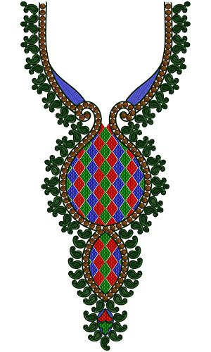 Indian Neck Embroidery Design 13953
