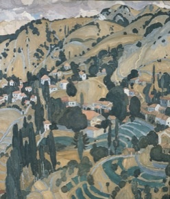 National Gallery of Athens - Spyros PAPALOUKAS - Kameno Chorio of Mytilene (Megalochori Lesvos 1925)