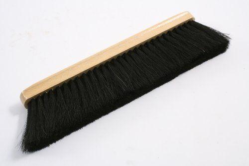 Farine Balai/balayette/table Balai avec corps en bois et poils naturels (Noir): Farine fouet avec crin noir garniture (4rangées de)…