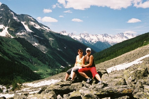 #PotentialistCanada .....the beauty of the Canadian Rockies.... here with my mom during our famous cross Canada road trip in 2004.