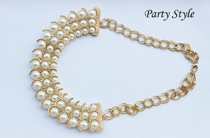 Pearl Necklace women Jewelry Gold Plated Clear Crystal Pearls necklaces pendants fashion necklaces for women 2014