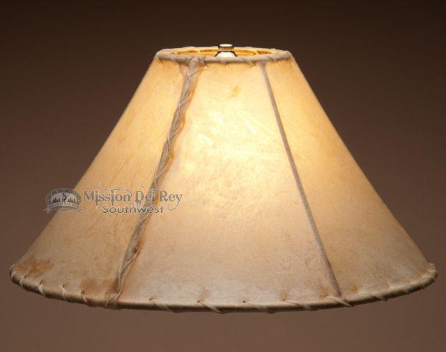 "Southwestern Rawhide Lamp Shade 16"" - Mission Del Rey Southwest"
