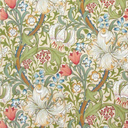 【Morris&Co.】ウィリアム・モリス 壁紙 52cm×1メートル 輸入ウォールペーパー (フルーツ ホワイト):