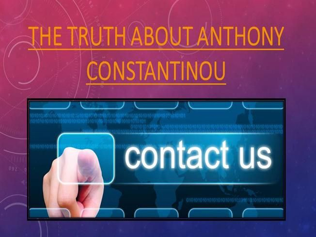 THE TRUTH ABOUT ANTHONY CONSTANTINOU by anthony296214 via authorSTREAM