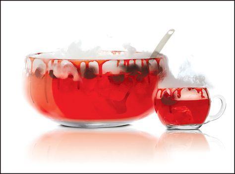 Aprenda a preparar um saboroso drink sem álcool, uma bebida de Halloween divertida e saborosa: Ponche do Vampiro.