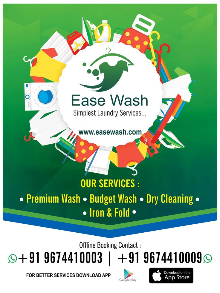 Dry cleaning wash fold iron fold laundry service