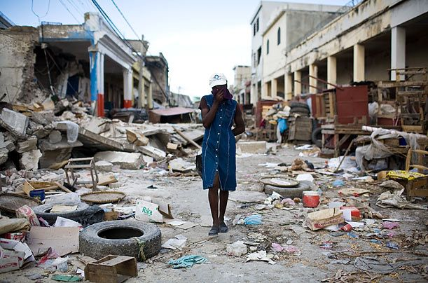 My heart hurts.  A street in PAP, Haiti.