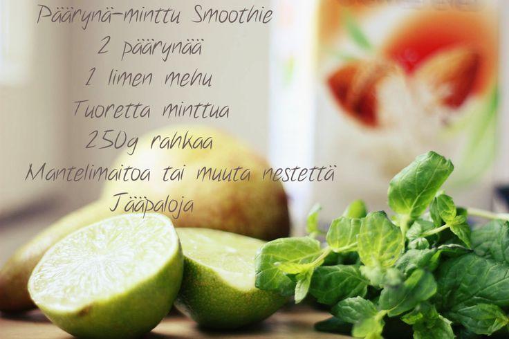 Minifitness - Päärynä-minttu smoothie