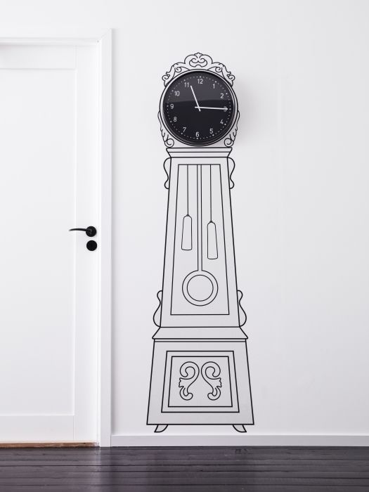 Wall Art Decals Clock : Create a personal grandfather clock by framing an
