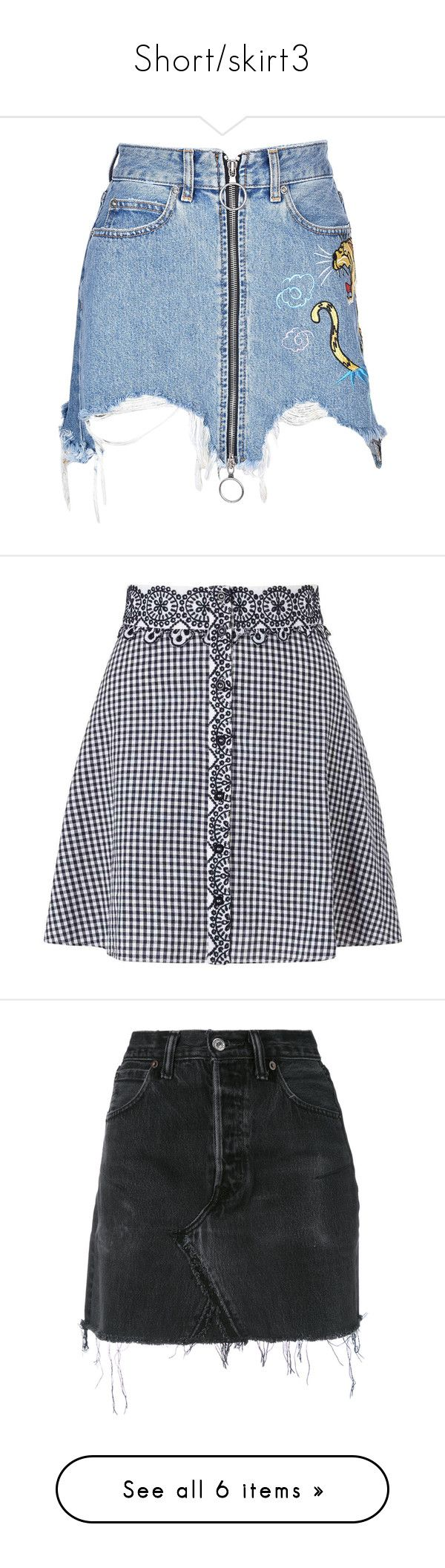 """""""Short/skirt3"""" by starz-official ❤ liked on Polyvore featuring skirts, bottoms, multicolor, womenclothingskirts, ripped skirt, patch skirt, multicolor skirt, multi colored skirt, marcelo burlon and black"""