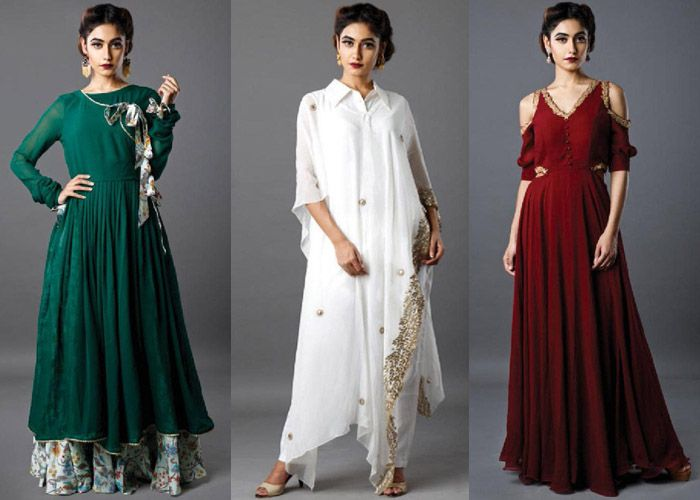 Designer Ruchira Nangalia's collection is creative and sophisticated with a slight oomph factor to get you ready for the festive/ wedding season.