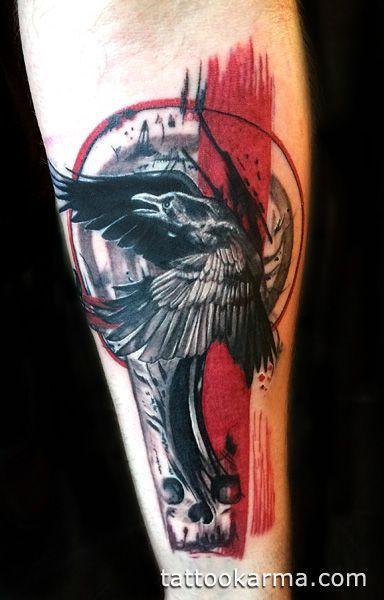 Trash polka trashpolka skull clock time butterfly color arm - 745 Best Images About Trash Polka Tattoos On Pinterest