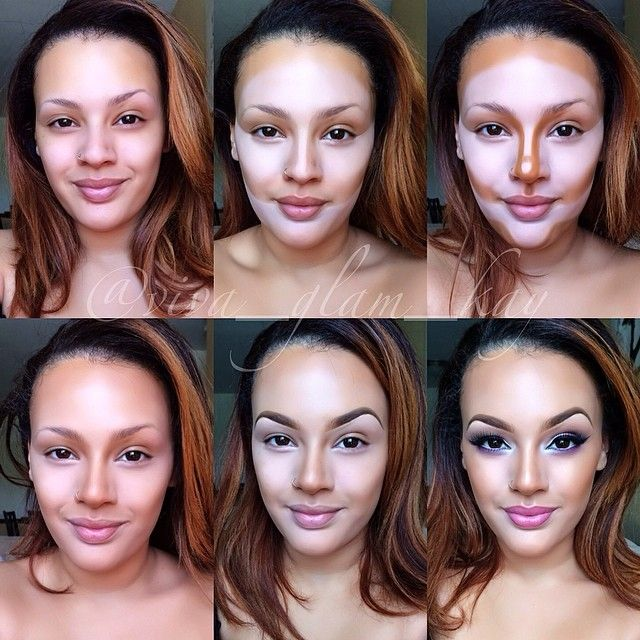 Highlight & Contour Pictorial… Viva_Glam_kay, even tho she's beautiful in the first one and the last one!