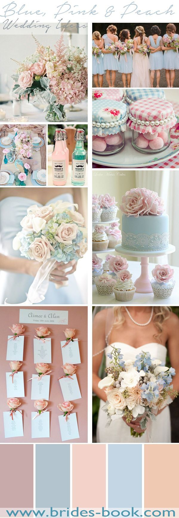 Blue, Pink & Peach Wedding Inspiration