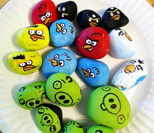 angry birds rocks
