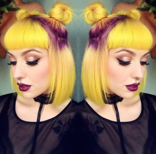👽 Очаровательные космические булочки 👽 и неоновый желтый / фиолетовый цвет волос. - Елена Сергиенко - Google+