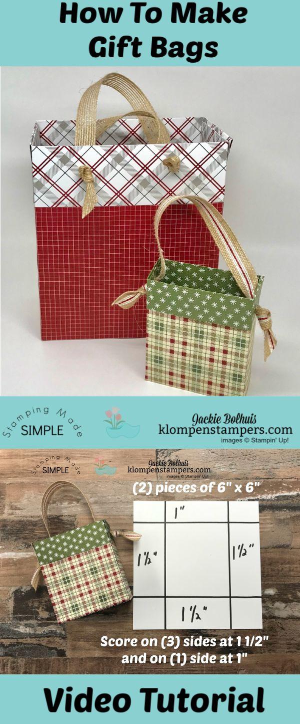 DIY Gift Bag From Scrapbook Paper