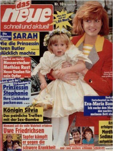 """""""das neue"""" (Nr.16 vom 15.4.1991) Sarah Ferguson"""