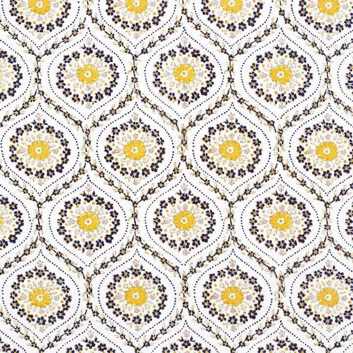 John Robshaw Fabrics: Umma Kashmir From John Robshaw Textiles #yellow #floral