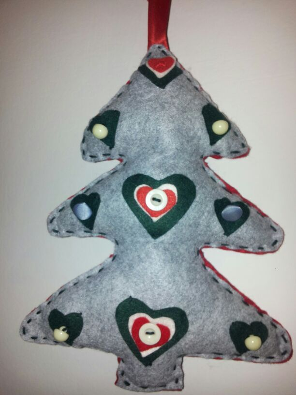 Albero di Natale grigio