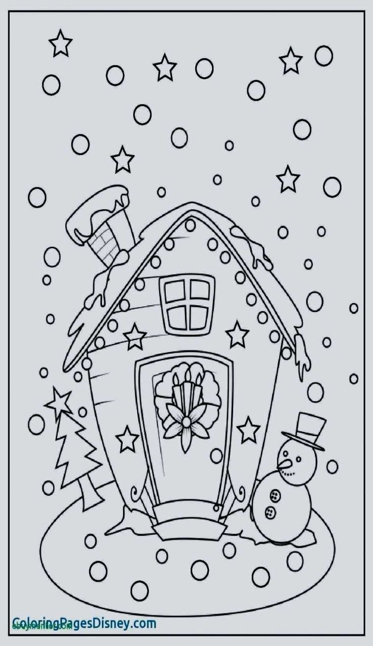 Printable Winter Coloring Pages Luxury Excelent Free