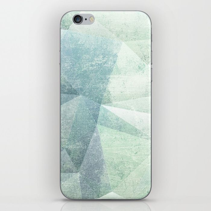 Frozen Geometry - Teal & Turquoise iPhone Skin by dominiquevari | Society6  tech #iphonecover #phonecase #phonecover #abstract Frozen #pattern #geometry #frozen #concrete #teal #mintgreen #dominiquevari #society6