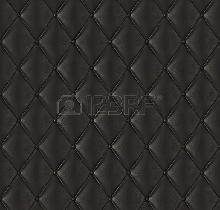 Negro de cuero acolchado Foto de archivo - 15352359