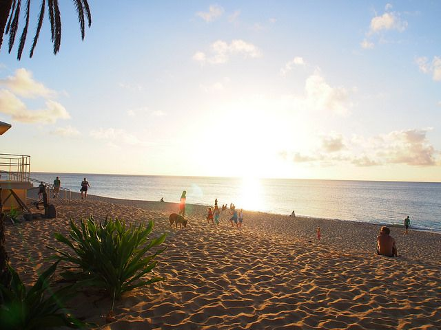 Hawaii sunset beach