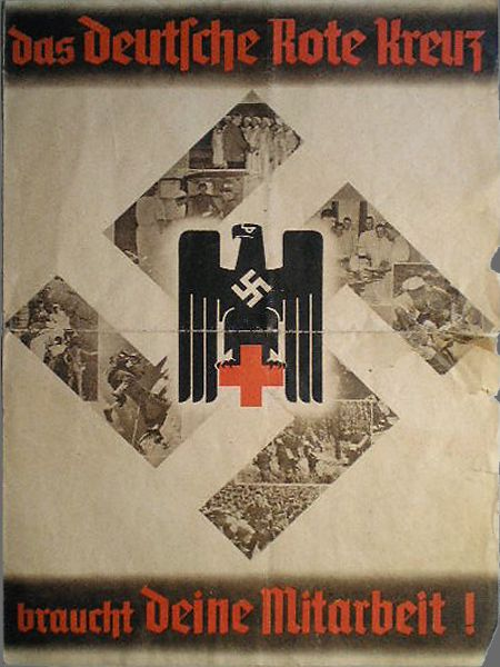 Nazi propaganda poster for the German Red Cross (Deutche Rote Kreuz)