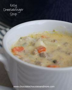 Easy Cheeseburger Soup-can be ready in just 30 minutes!