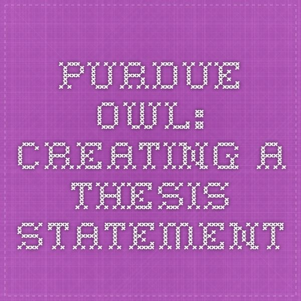3 different types of thesis statements