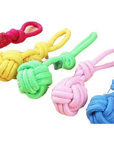 Aus der Kategorie Welpenspielzeug  gibt es, zum Preis von   Für:Katzen, Hunde,<br />Typ:Interaktives,<br />Material:Gewebe,<br />Farbe:Zufällige Farben,<br />Eigenschaften:Seil,<br />Maße (cm):Small: L15*Dia5; Medium: L25*Dia7;,<br />Netto Gewicht (kg):Small: 0.046; Medium: 0.068;,<br />