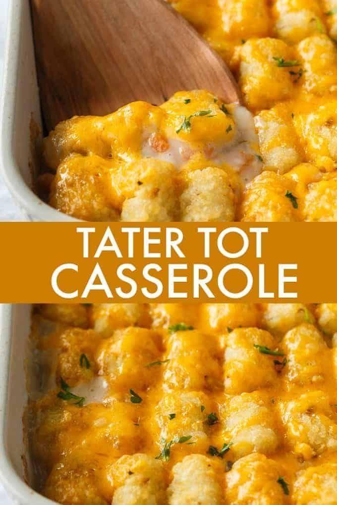 Tater Tot Casserole Recipe Tater Tot Recipes Tater Tot Casserole