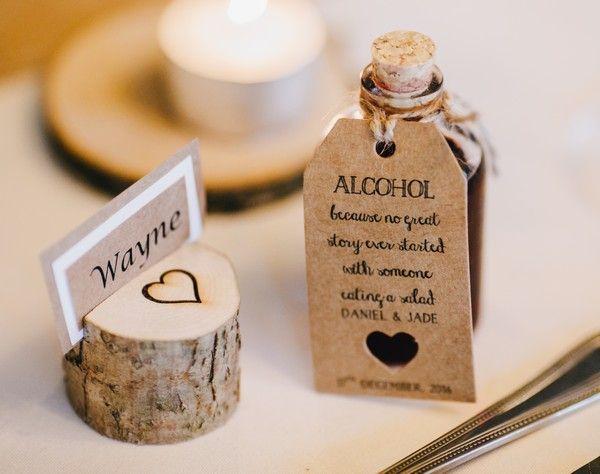 Miniature Alcohol Wedding Favour #WeddingIdeasSouvenir