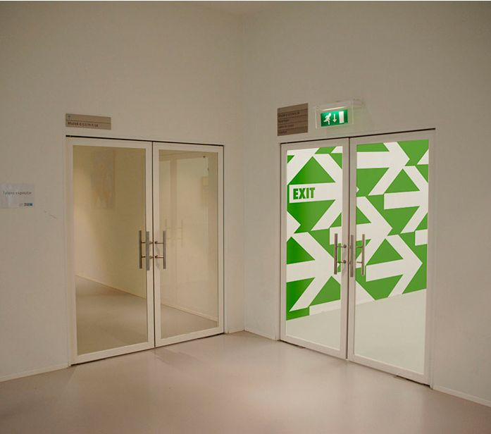 Convenient wayfinder for emergency exit.