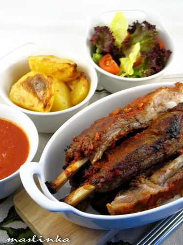 Ribs in sweet - hot sauceSpicy Sauces, Meat Dishes, Spicy Recipe, Hot Sauces