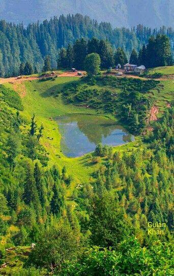 Awesome view of the Fairy meadow of Shogran peak, Kalam, Naran, Swat valley  kpk Pakistan glt