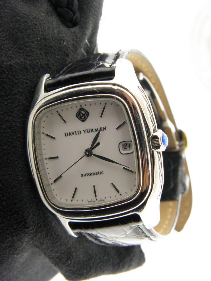 david yurman t301lst leather white 35mm watch for men