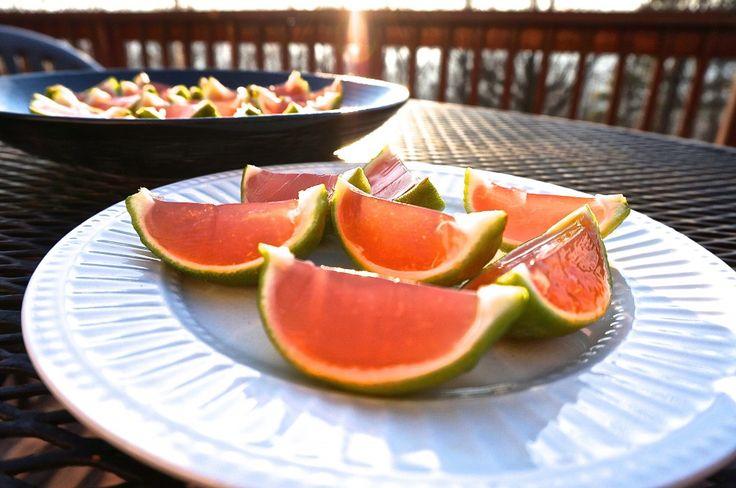 Cosmopolitan Lime Slice Jello Shots - VEGAN! | MORE. A Vegan Food Blog