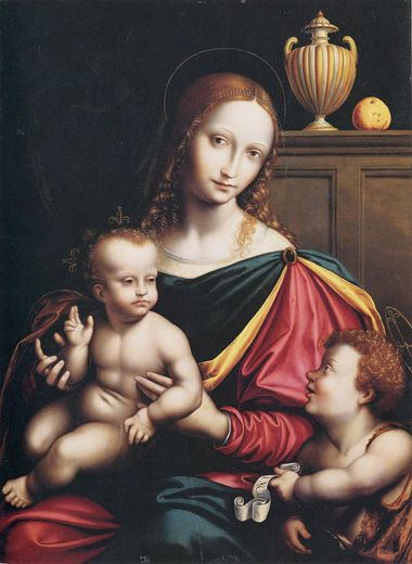 http://museolia.spezianet.it/images/opere/inv_335_big.jpg Giovan Pietro Rizzoli, detto Giampietrino Madonna with Child end of 15th century.