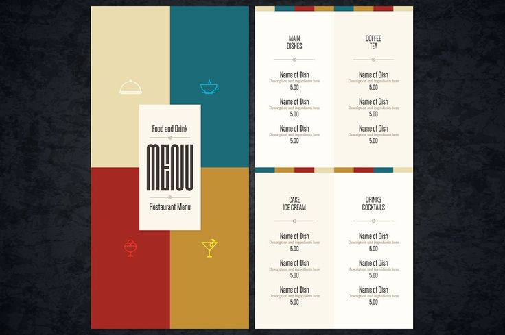 Restaurant menu template by Restaurant Menu & Logos on @creativemarket
