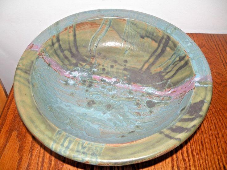 RARE BENNINGTON POTTERS BENNINGTON POTTERY DAVID GIL ART POTTERY BOWL MULTI GLAZ | eBay