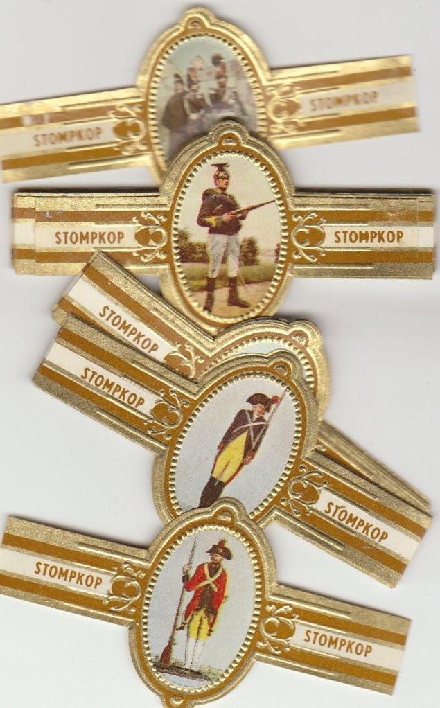 50 cigar bands Stompkop War uniforms Nr1-52 brown