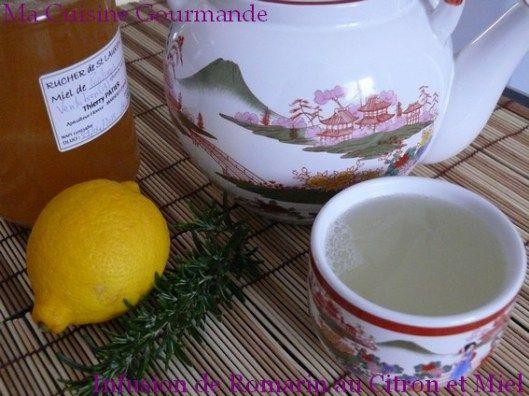 infusion romarin citron et miel