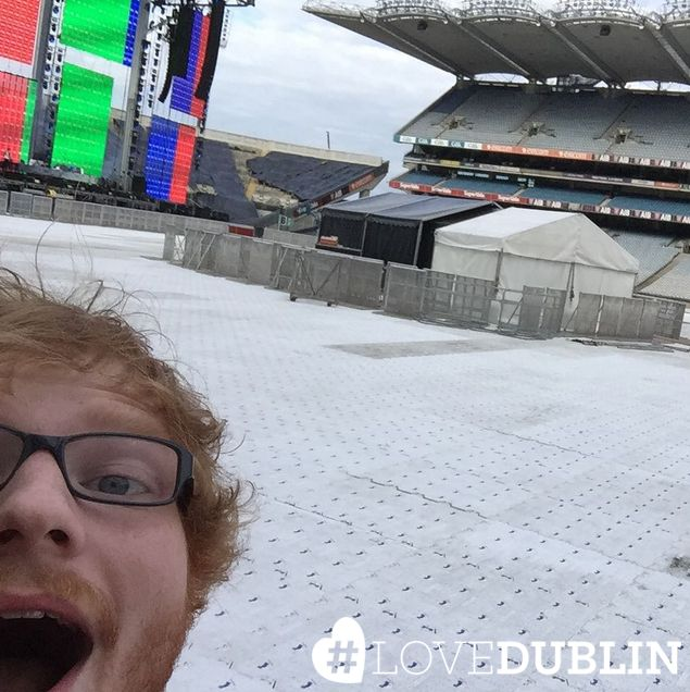 Dublin has turned into the music capital with @edsheeran playing in Croke Park! Ed looks excited, were you there? #LoveDublin #love #Dublin #vsco #vscocam #travel  #photoftheday #pic #picoftheday #ff #tip #ireland #photo #art #photography #artist #music #inspo #Ireland