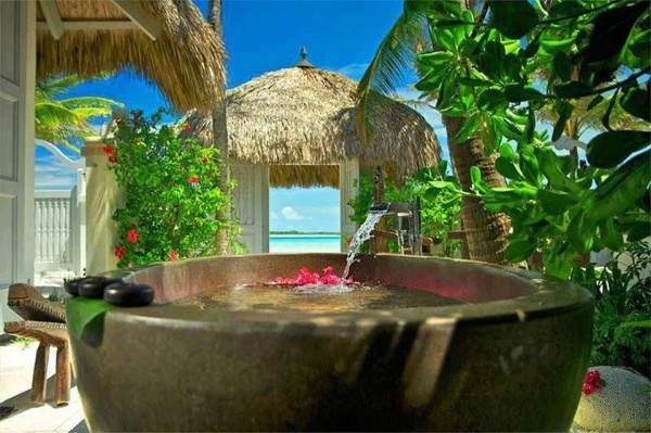 Tropical bath, Maldives