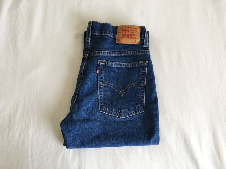 Vintage Levi's Red Tab 515 High Waisted Boot Leg Jeans.
