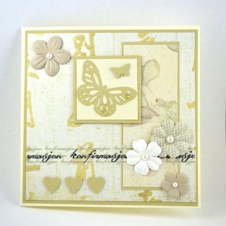 Kort til konfirmant nr 08 Handmade card