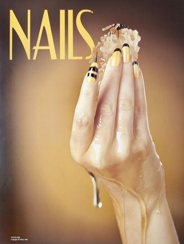 Honey Bee Nail Art Nails Salon Poster 1
