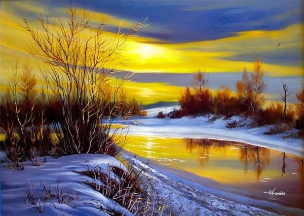 Beautiful Landscapes by Artist Hodyukov Alexander Paintings